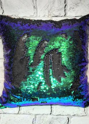Подушка декоративна двостороння паєтка 40Х40