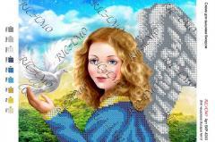 Картина бісером Ангел з голубом