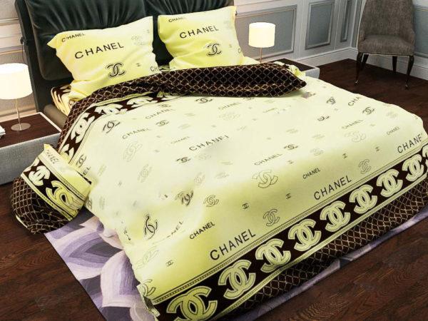 Комплект постільної білизни півтораспальний Chanel