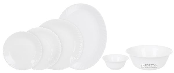 Сервіз столовий Arcopal Feston White 26 предметів (L5300)