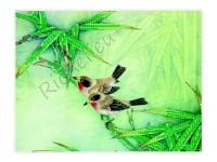 Картина бісером Пташка на гілці