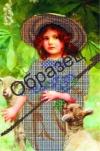 Картина бісером Дівчинка пастушка