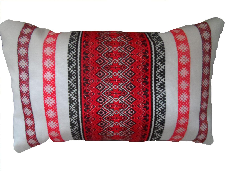 Подушка декоративна вишивка 25Х45